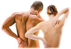 couple having back massage