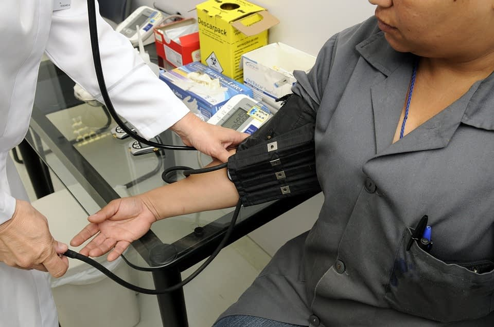 woman in medical check up